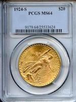 1924-S $20 PCGS