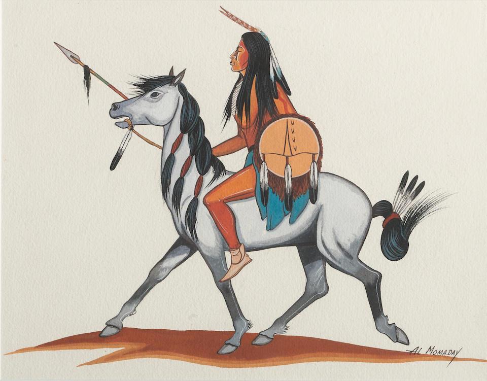 Two Kiowa gouaches