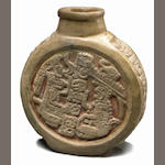 Maya Flask (Poison Bottle),<BR />Late Classic, ca. A.D. 550-950