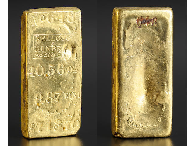 Kellogg & Humbert 40.56 Ounce Gold Bar -­- Ex: <i>S.S. Central America</i>