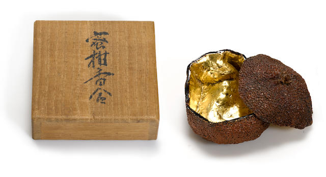 A lacquer incense box (kogo) By Taisai, Taisho period (early 20th century)