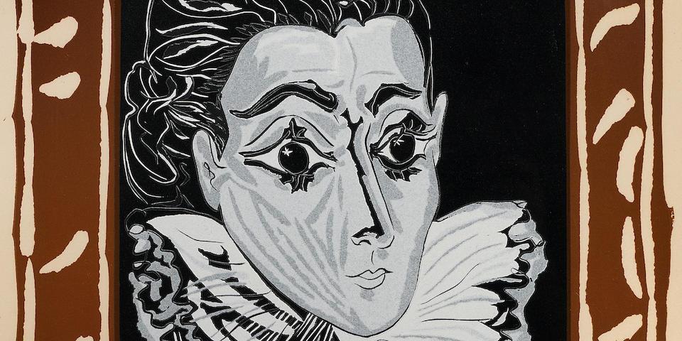 Pablo Picasso (1881-1973); La Dame à la Collerette (Portrait de Jacqueline à la Fraise);
