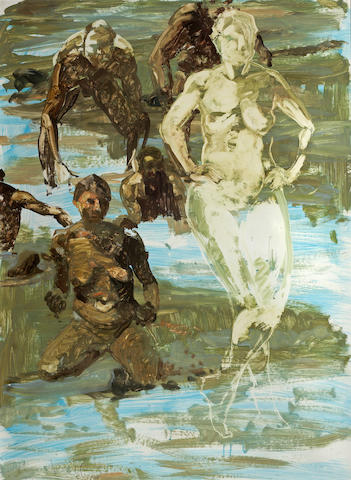 Eric Fischl, Untitled, oil on paper, 34 x 25in