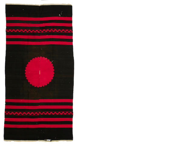 An antique Mexican poncho