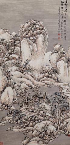 Wu Zheng (1878-1949)  Snow Landscape, 1945