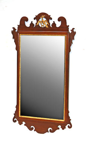 A Chippendale mahogany and parcel gilt mirror late 18th century