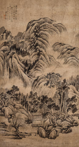 He Weipu (1844 - 1925)  Summer Mountains after Dong Yuan, 1916