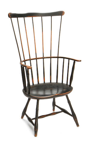 A fan back bamboo turned Windsor armchair