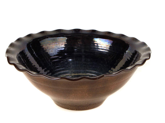 A Sèvres glazed earthenware bowl