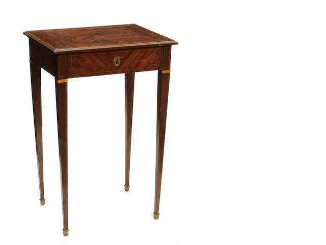 A George III style mahogany dressing table