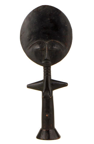 An Ashanti doll  aku'aba height 14in; width 6in; depth 2in