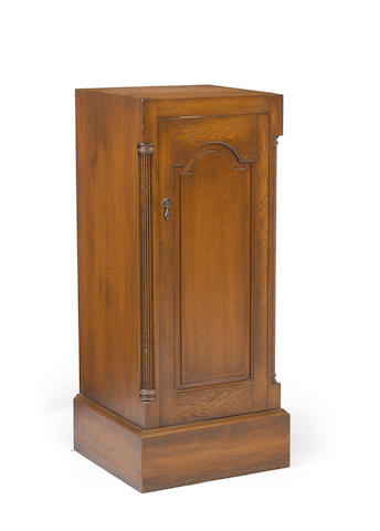 A Baroque style walnut cabinet late 20th century