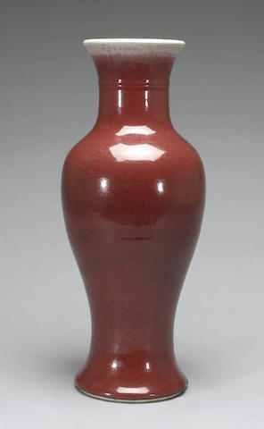 A large Langyao glazed porcelain vase Late Qing/Republic period