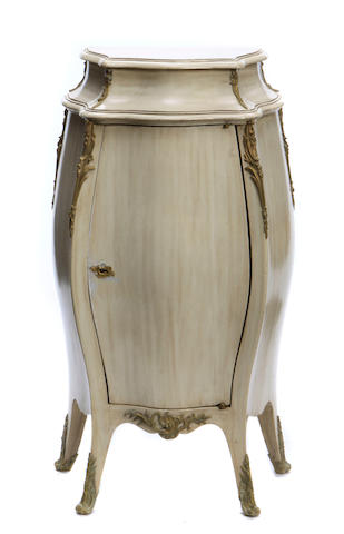 A Louis XV style gilt bronze mounted paint decorated cabinet