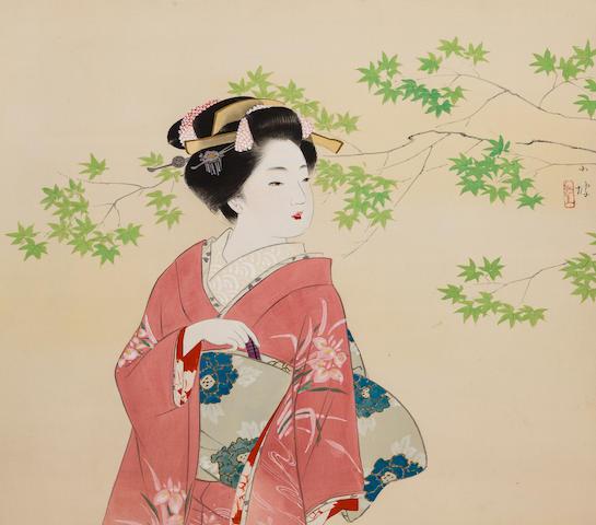 Ito Shoha ( 1877-1968)<BR />Beauty<BR />Circa 1950