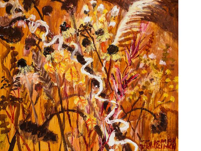 Kim Chong-Hak (b. 1937) Flowers and Grasses, 1990