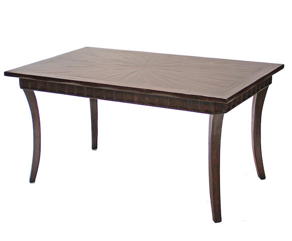 A Neoclassical style hardwood small dining table  20th century