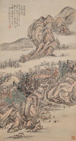 Lu Hui (1851 - 1920) Fantastic Mountain Landscape 1919