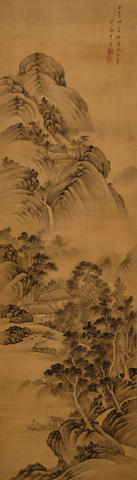 Gan Jing (18th century) Landscape after Dong Qichang, 1762