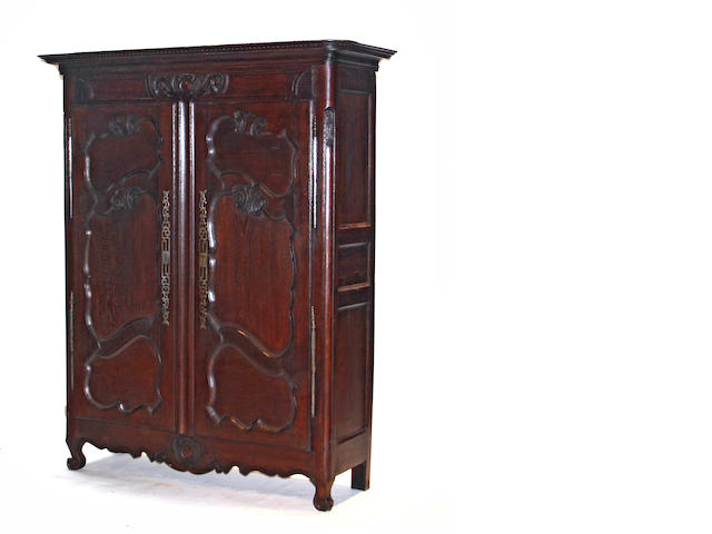 A Louis XV style stained oak armoire 19th century