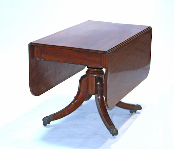 A Regency mahogany drop leaf table 19th century