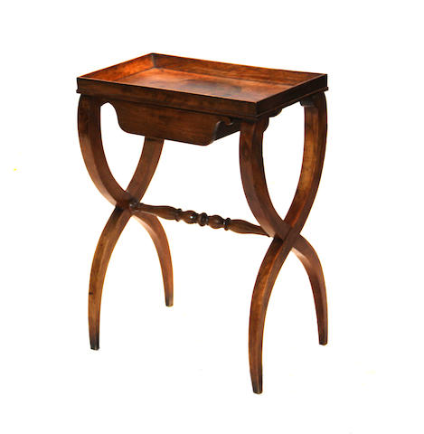 A Louis Phillipe walnut table second quarter 19th century