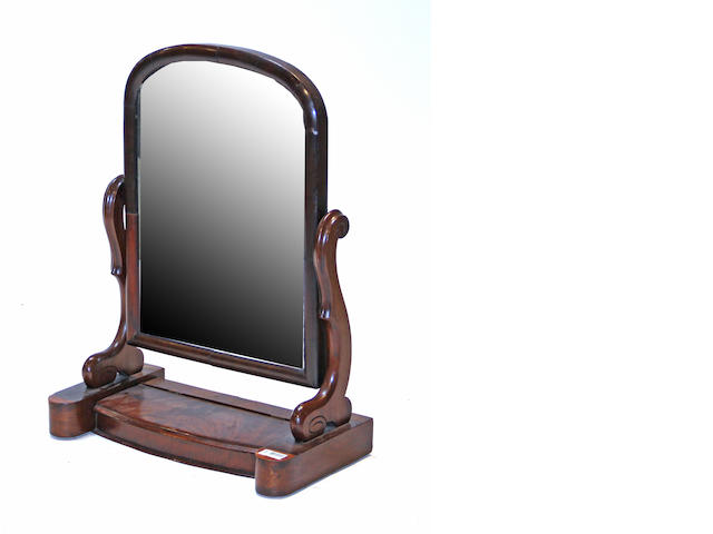 A Classical mahogany dressing mirror early 19th century
