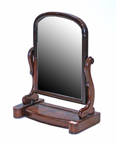 A Classical mahogany dressing mirror early 19th century
