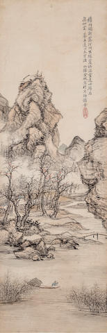 Jin Cheng (1878-1926)  Landscape after Wang Chen (1720-1797)