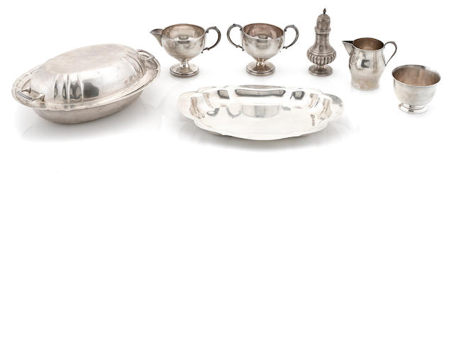 An assembled group of American  sterling silver  hollowware 20th century