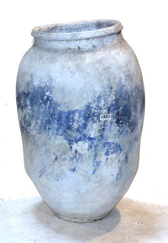 A pair of large ceramic storage jars