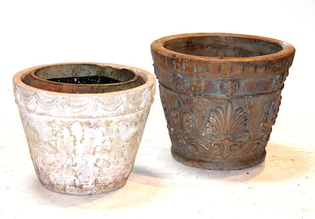 A group of eight various  planters late 20th century