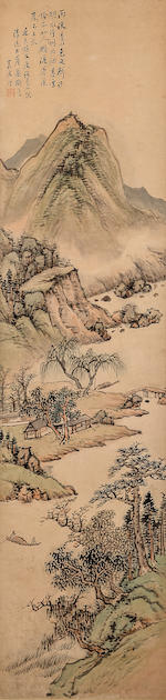 Gu Yun (1835-1896) Landscapes in the Style of Shen Zhou, 1883