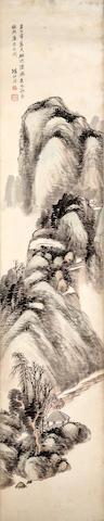 Yang Borun (1837 - 1911)  Set of Four Landscapes