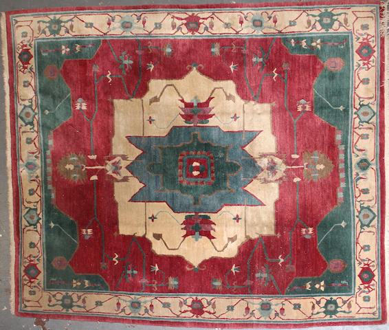 A Turkish carpet size approximately 7ft. 9in x 9ft. 9in.