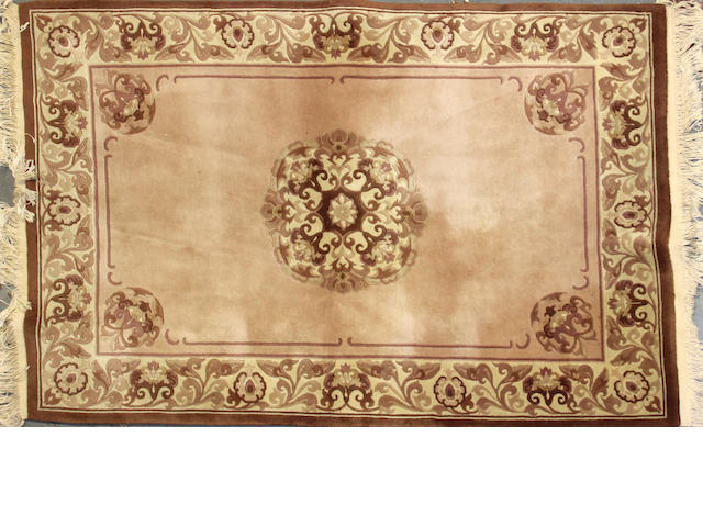 A Chinese rug size approximately 4ft. x 6ft. 2in.