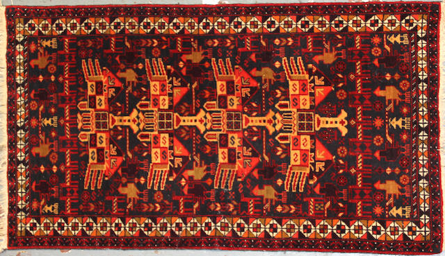 A Mahal carpet size approximately 10ft. 11in. x 14ft. 7in.