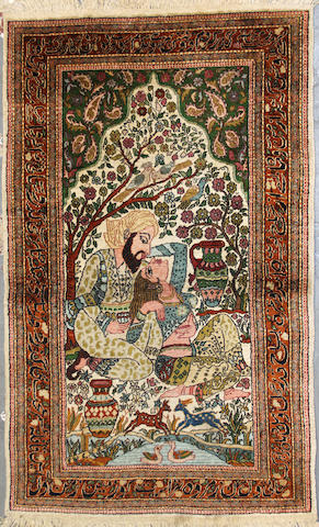 A Kashmiri rug size approximately 3ft. 1in. x 5ft.