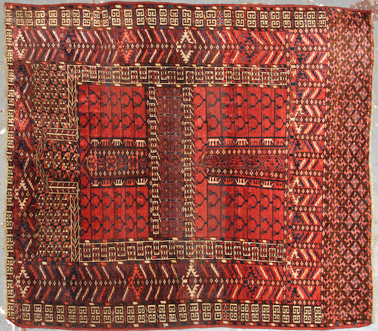 A Tekke Yamout size approximately 4ft. 1in. x 4ft. 8in.
