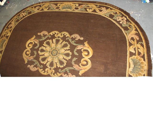 A Spanish Savonnerie style carpet size approximately 14ft. x 16ft. 9in.