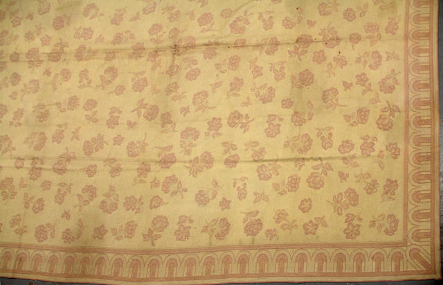 An Indian needlework carpet size approximately 12ft. 4in. x 14ft. 9in.