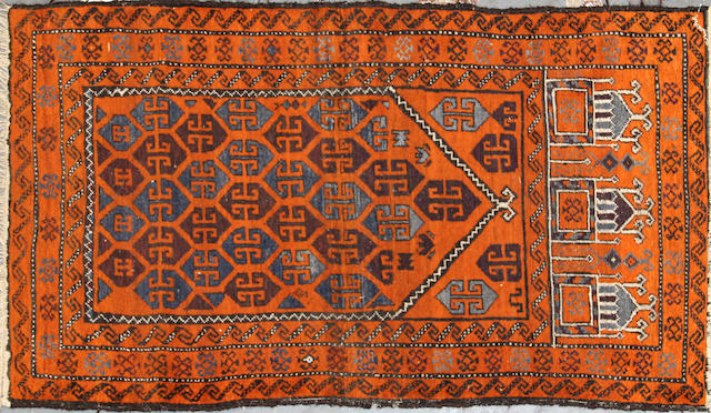 A Belouch rug size approximately 2ft. 7in. x 4ft. 7in.