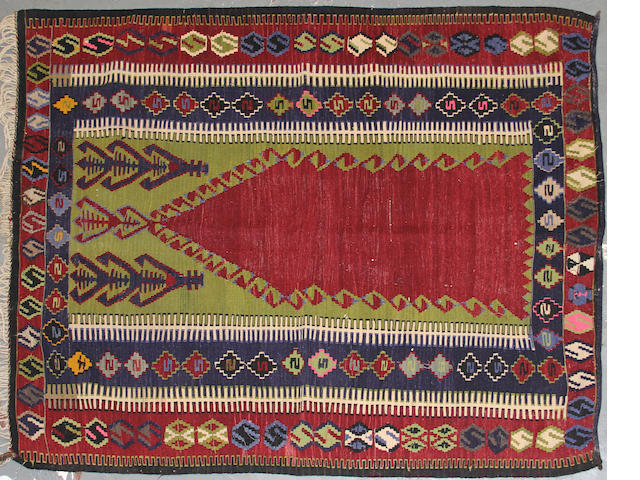 A Turkish kilim size approximately 4ft. 10in. x 6ft.