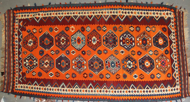A Kilim size approximately 5ft. 1in. x 10ft. 6in.
