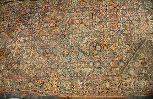 A Sultanabad carpet size approximately 15ft. 3in. x 21ft. 7in.
