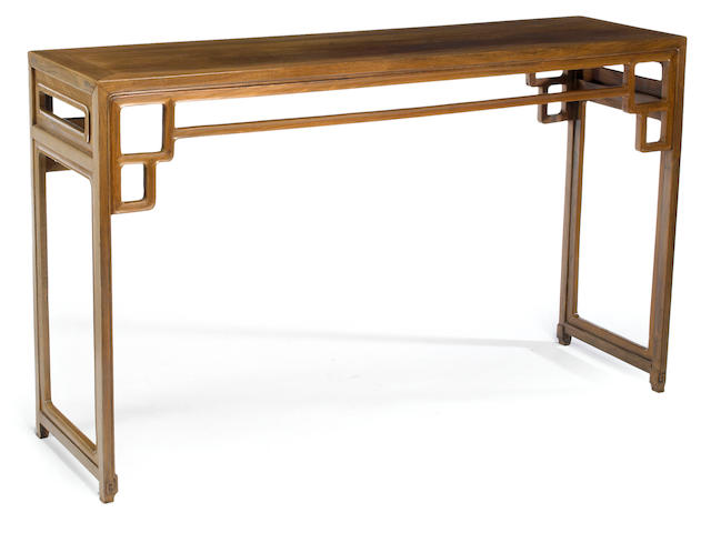 A mixed hardwood altar table