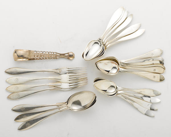 A Swedish silver group of flatware  (25)