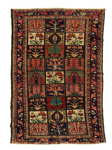 A Bakhtiari carpet size approximately 5ft. x 10ft. 1in.