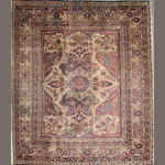 A Kerman rug (has been reduced) size approximately 7ft. 6in. x 8ft. 10in.