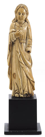 An ivory carving of John the Baptist  Goa, India, circa 18th century